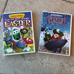 Other - 2 For $10🎉Two Veggie Tales Easter Movies